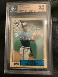 Fred Mcgriff 1987 Topps Traded 74 Rc Bgs 9.5 Gem Mint Blue Jays Rookie
