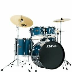 Tama Ie52chlb Imperialstar 5-piece Complete Drum Kit - Hairline Blue