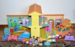 Dora The Explorer Talking Doll House W/ Van, Figures And Accessories