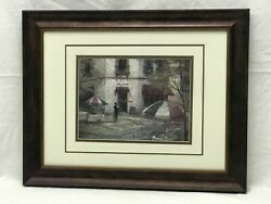 RUANE MANNING FRAMED MATTED PRINT MAGGIANO#x27;S FRENCH CAFE ART PRINT