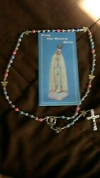 Rosary Butterfly Rosary-blessed By A Catholic Priest,pink,blue With Booklet2021