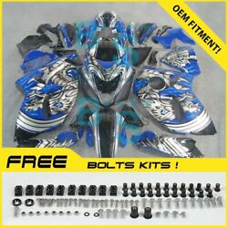 Airbrushed Fairings Complete + Tank Cover Fit Gsx-r1300 Hayabusa 08-19 75 E3