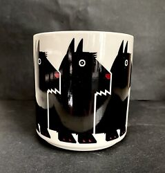 Vintage 1984 Signed Taylor And Ng Minimals Scottie Terrier Coffee Mug Cup Japan