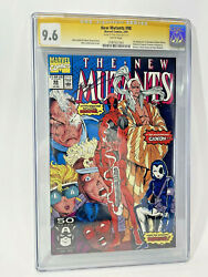 New Mutants 98 1991 Cgc 9.6 1st Deadpool Signed By Rob Liefeld White Pages