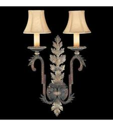 Fine Art Lamps Stile Bellagio 2 Tortoise Leather Crackle Sconce Wall Light Qty 2