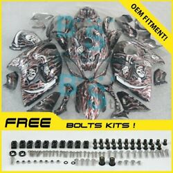 Airbrushed Fairings Complete + Tank Cover Fit Gsx-r1300 Hayabusa 08-19 85 E4