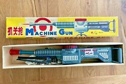 Me 602 - Tin Toy Space Machine Gun, Battery Operated Working, 48cm