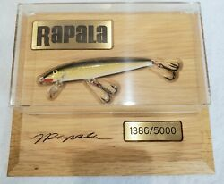 Rapala Limited Edition Mounted Crankbait In Display Case 1386/5000