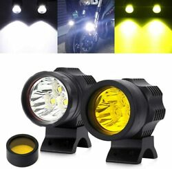 Motorcycle Auxiliary Lights Led Headlights Front Spotlight 30w 3500lm 12v 24v Mo