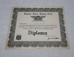 Hi-speed Gas Station Jimmie Allen Flying Club Diploma