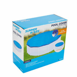 New Summer Waves Adjustable Pool Cover 8-10ft Inflatable Ring And Frame Pools