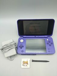 New Nintendo 2ds Xl Jan-001 Purple And Black W/ Game