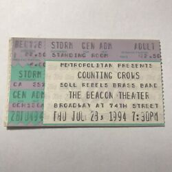 Counting Crows Beacon Theater Hopewell Va Concert Ticket Stub Vintage July 1994