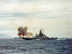 Uss Indiana Off Coast Of Japan July 14 1945 Wwii Ww2 Photo Reproduction