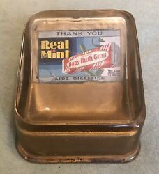 Antique Store Change Tray Coin Dish Advertising, Real Mint Baby Ruth Gum