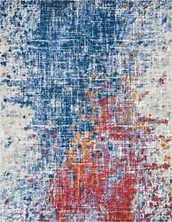 Nourison Twilight 7and0399 X 9and0399 Rectangle Area Rugs In Red And Blue 099446054241