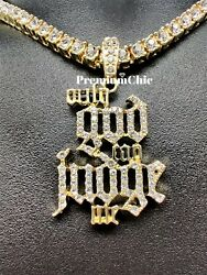 Only God Can Judge Me Pendant Necklace With Rope Or Tennis Chain Hip Hop Jewelry