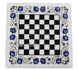 24 Inches Exclusive Marble Coffee Table Top Hand Made Game Table For Kids Room