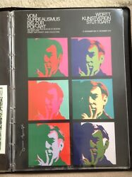 Rare And Hand Signed Andy Warhol Exhibition Poster Stuttgart 1970 / Pop Art