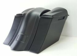Harley Overlay Fender 6 Saddlebags 6.5 2 Lids No Exhaust Cutout 09-13
