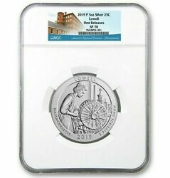 2019-p 5 Oz Silver Atb ✪ Lowell National Park ✪ 25c Ngc Sp-70 Satin Ma ◢trusted◣