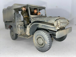 135 Built Wwii Usarmy Weapons Carrier Jeep Truck Painted Weathered 2figs. Wtop