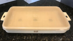 """Littonware 38810 Microwave Cookware 12""""x7""""casserole Pan Boiler/bacon Tray And Lid"""