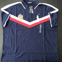 Polo Big Pony Menand039s Polo Big And Tall Blue White Red Usa Crest