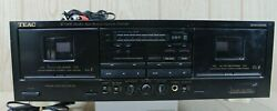 Vintage Teac W-520r Dual Cassette Deck Dolby Hx Pro - Tested -