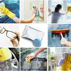 10pc Car Windshield Washer Window Cleaning Tools Solid Effervescent Tablets