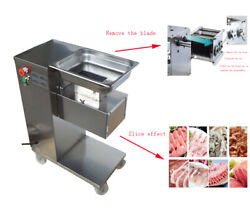 500kg/h Stainless Meat Cutting Machine 0.68hp 5mm Blade Commercial Kitchen Hot
