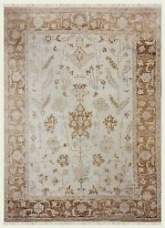 10 X 14 Hand Knotted Ivory Natural Oushak Wool Tribal Oriental Rug Carpet