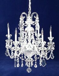 Artiasn Made By Frank Crescente 6 Arm Old World All Crystal Chandelier 1/12scale