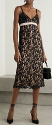 Black Flower Lace Shell Dress - With Tags- Rrp6000 Aud