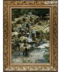 Nomadic Migration Vintage Tableau Hand Made With Silk And Wool 156 X 94 Cm