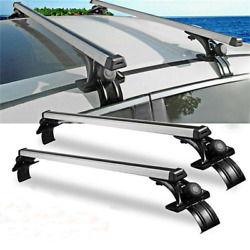 2x 48inch Car Roof Rack Cross Rail Bar Luggage Bicycle Boat Carrier Adjustable
