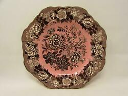 Blue Room Garden Collection By Spode 9 Square Fancy Plate Pink Archive