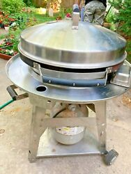 Evo Professional Chef Gas Grill Cart Seasoned Steel Cooktop Propane And Cover Sale