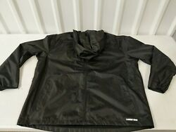 Landsand039 End Menand039s Waterproof Windbreaker Black Size Xl Xlarge - New With Tags