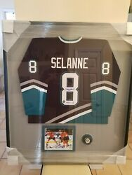 Teemu Selanne Ducks Framed Jersey Signed W Autograph Photo And Puck