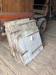 Antique Pa Barn Doors Mid 19th C Org Strap Hinges Five Matching Sets Stable Wall