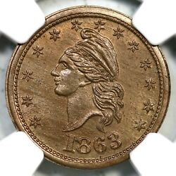 1863 F-1/229d Ngc Ms 66 Our Country Civil War Token
