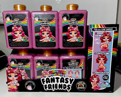 6x Poopsie Rainbow Surprise Fantasy Friends Spit Sparkly Slime And Toot Glitter 6