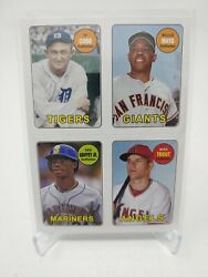 2013 Topps 4 In 1 Cobb Mays Griffey Trout 69s