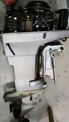 1990's Johnson 50hp Outboard Engine 2 Stroke 20 Shaft - Needs Lower Unit