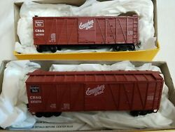 Lot Of 2 Accurail 4002 Ho 40' Ob Wood Boxcar Cbandq 130258 And 16380 - Rtr