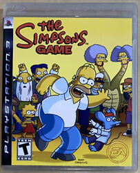 The Simpsons Game Ps3 Video Game Sony Playstation 3 W/ Manuel And Poster Rare