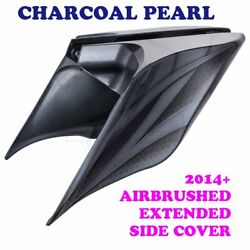 Charcoal Pearl Airbrush Stretch Extend Side Cover For 14+ Harley Street Road C1