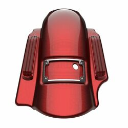 Hard Candy Hot Rod Red Dominator Stretched 2in1 Fender Fit 14+ Harley Touring