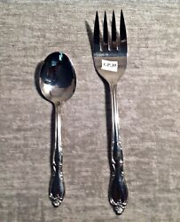 Wm Rogers Sons Serving Fork And Spoon